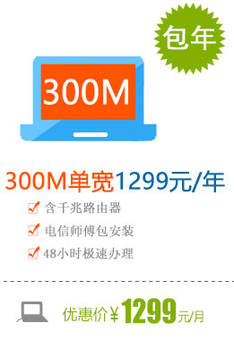 300M单宽带